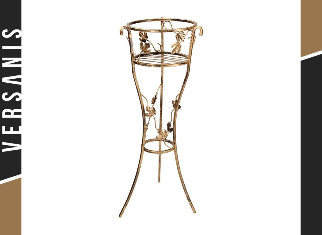 1-pot plant stand with leaves Metal