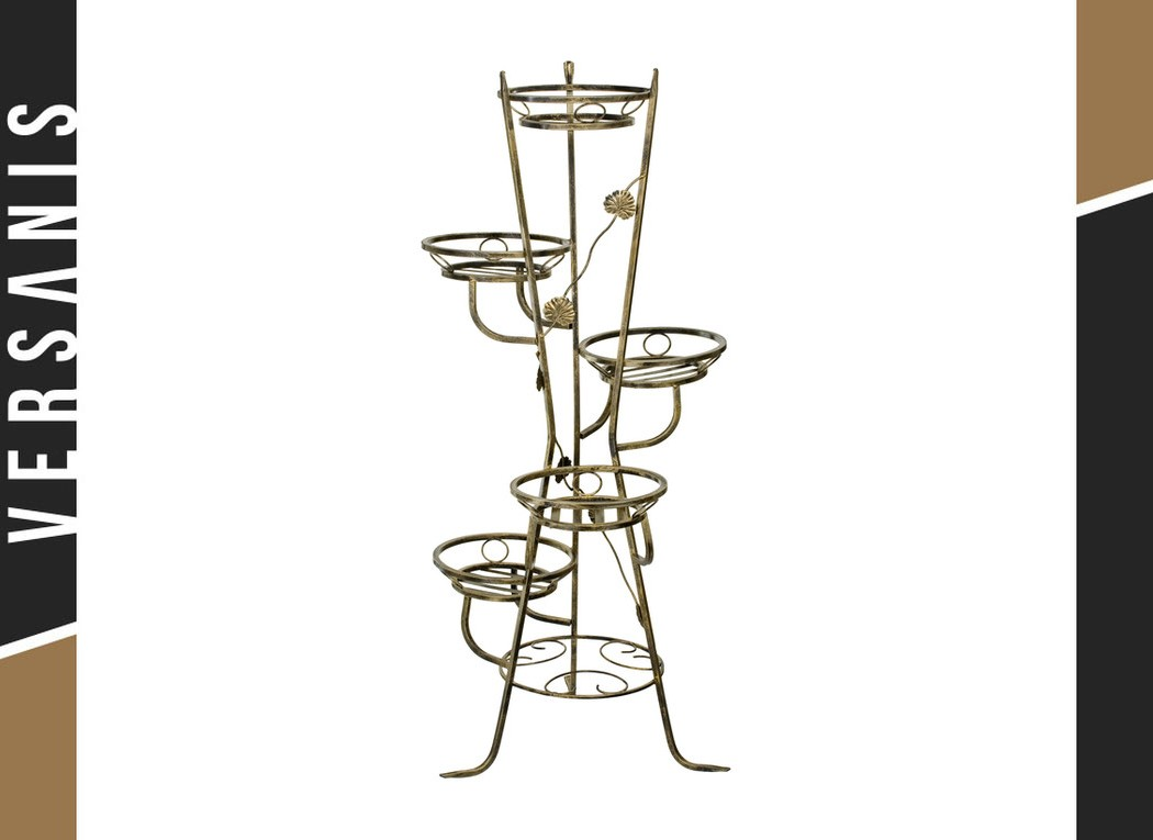 5-pot plant stand Metal