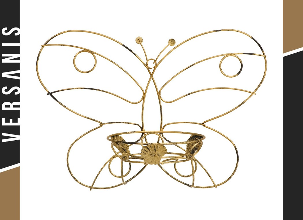 Butterfly-shaped plant rack Metal