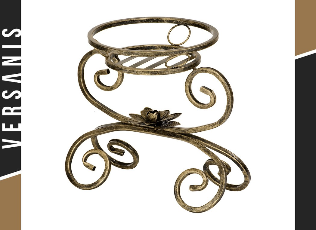 Cradle-shaped 1-pot plant stand Metal