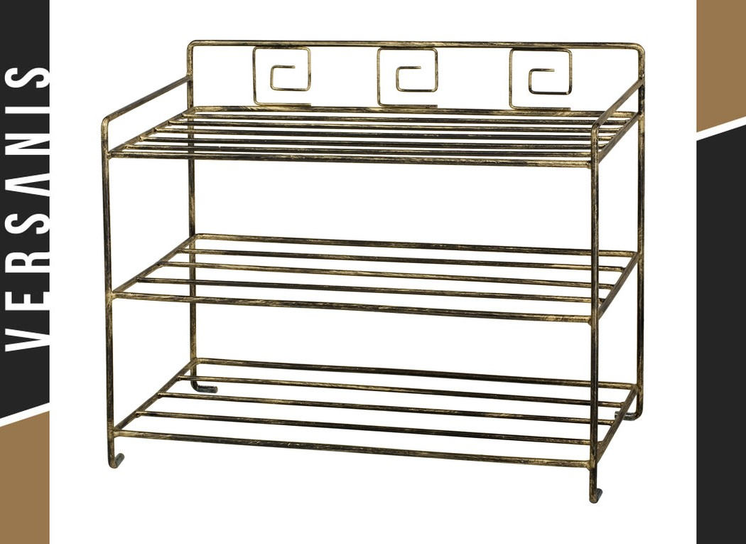 Greek-style shoe rack Metal