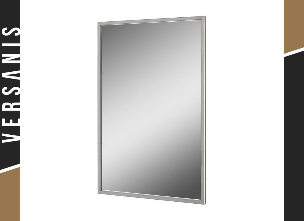 Mirror with non-rounded corners Simple Metal