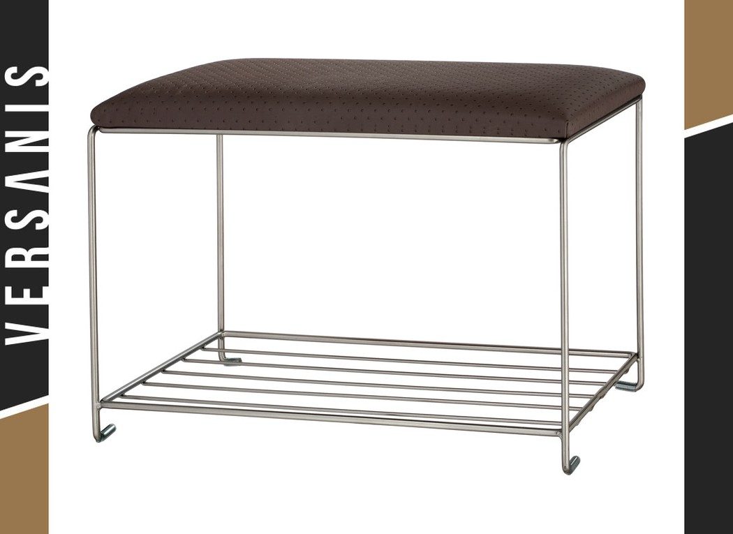 Shoe rack with a seat – large pouffe Simple Metal
