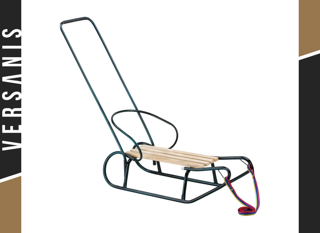 Sled with a backrest and a handle Metal