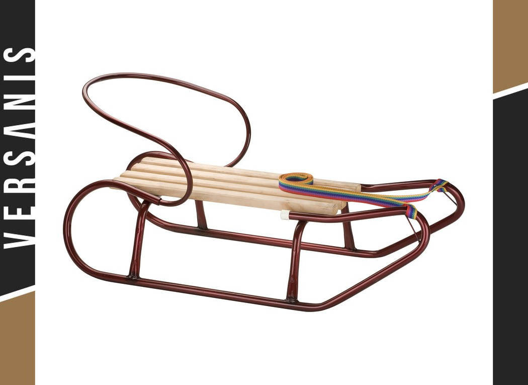 Sled with a backrest Metal