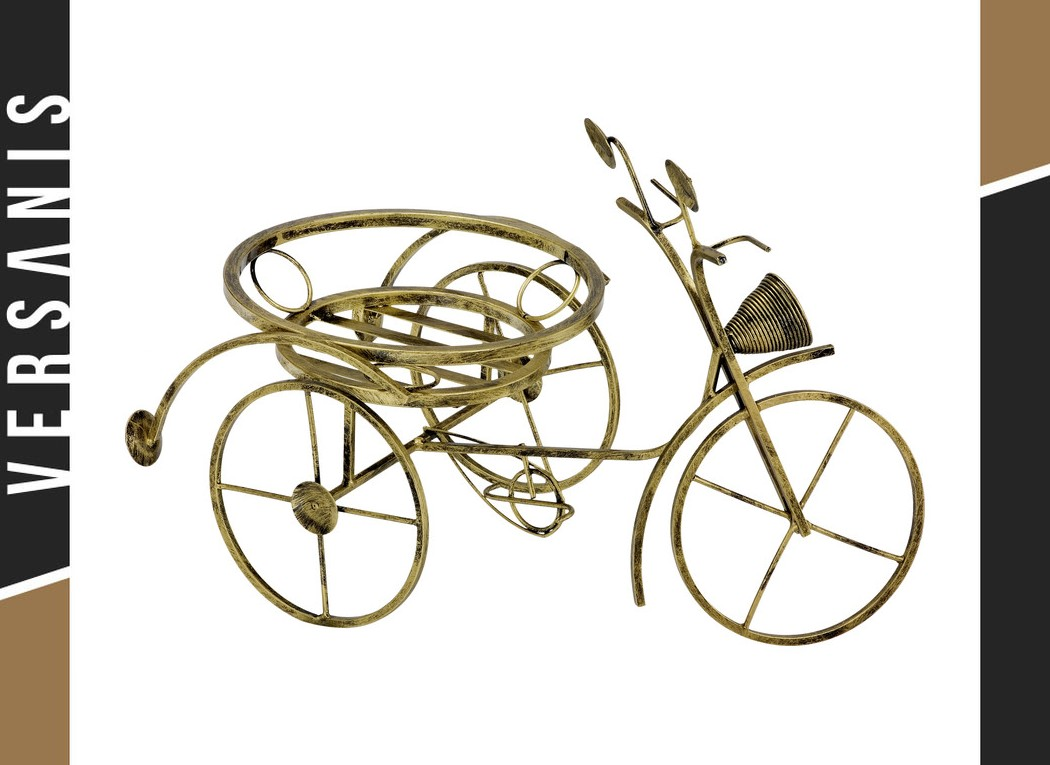 Small bicycle-shaped plant stand Metal
