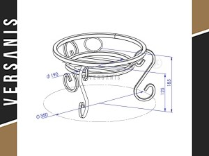 Dimensions of bowls
